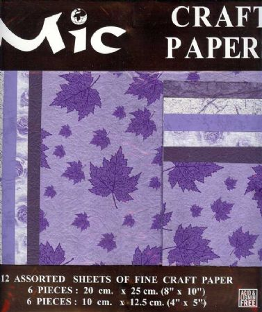 12 Sheets of High Quality Fine Lilac Craft Paper